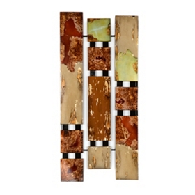 Abstract Burning Metal Wall Plaque
