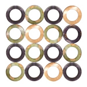 Cutout Circles Metal Wall Plaque