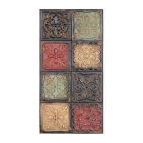 Ornate Crosses Metal Wall Plaque
