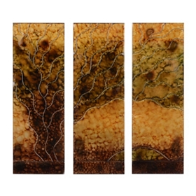 Desert Sunset Abstract Wall Art, Set of 3