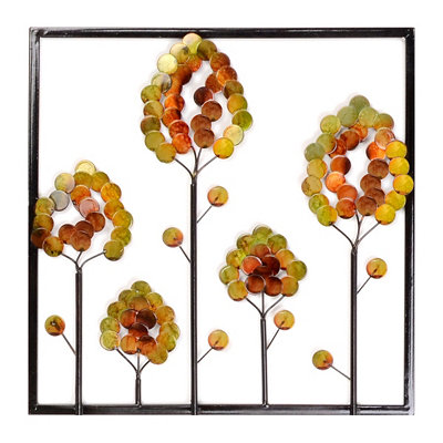Autumn Forest Metal Wall Plaque