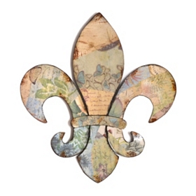 Scrapbook Fleur-de-lis Metal Wall Plaque