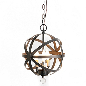 Bronze Metal Globe Pendant Light