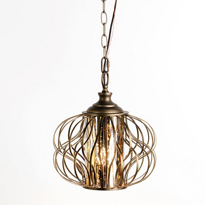 Bronze Twist Pendant Light
