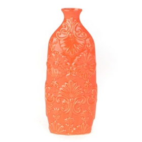 Orange Floret Short Neck Vase