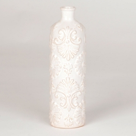 White Floret Bottle Neck Vase
