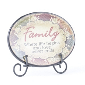 Family Inspirational Display Plate