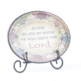 Serve the Lord Inspirational Display Plate