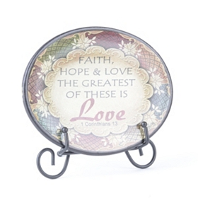 Love Inspirational Display Plate