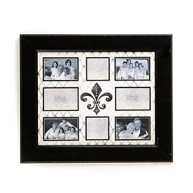 Fleur-de-lis 8-Opening Collage Frame