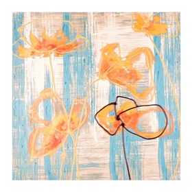 Modern Floral Canvas Art Print
