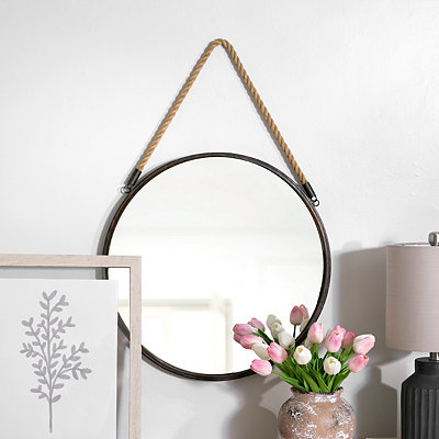 Metal Rope Wall Mirror