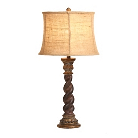 Brown Spiral Table Lamp