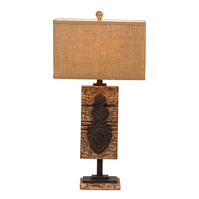 Natural Medallion Table Lamp
