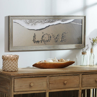 Beach Love Framed Art Print
