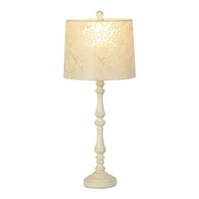Floral Lace Antique Cream Table Lamp