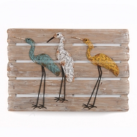 Coastal Cranes Wall Plaque