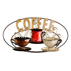 Coffee is Served Metal Wall Plaque
