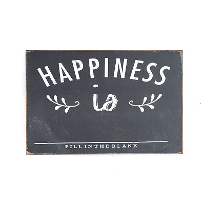 Happiness Is Wall Plaque