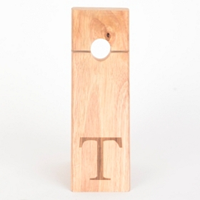 Monogram Gravity Wood Wine Bottle Holder, T
