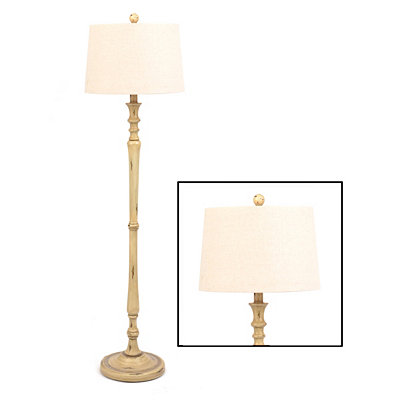 Natural Distressed Floor Lamp