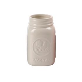 White Mason Jar Vase