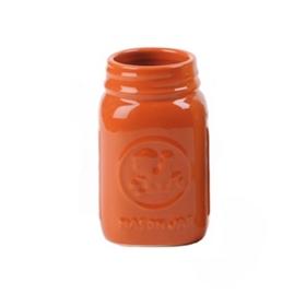 Orange Mason Jar Vase