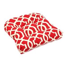 Red Geometric Outdoor Cushion