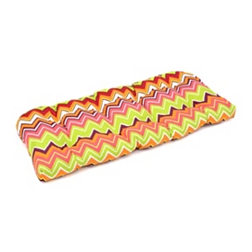 Chevron Color Outdoor Settee Cushion
