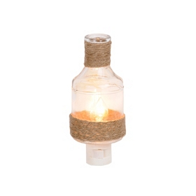 Clear Burlap Bottle Night Light