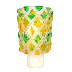 Green and Yellow Diamond Cut Night Light