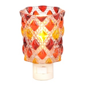 Red and Orange Diamond Cut Night Light