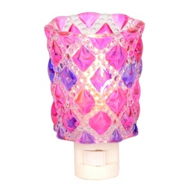 Pink and Purple Diamond Cut Night Light