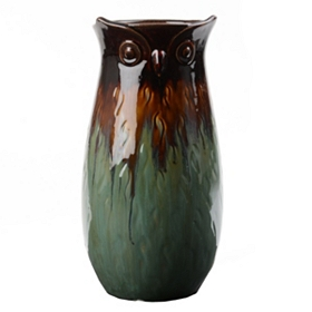 Blue Transition Owl Vase