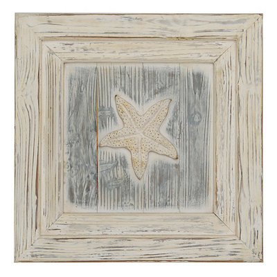 Ocean Front Wooden Sea Shell III Plaque
