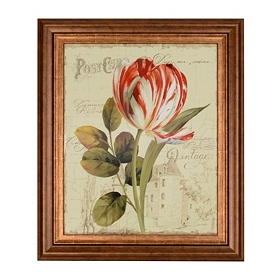 Garden View I Framed Art Print