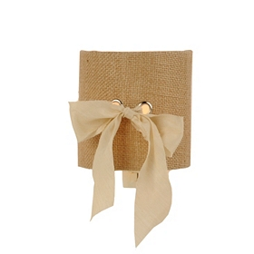 Burlap Ribbon Night Light Half Shade