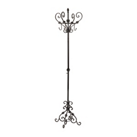 Black Scroll Metal Coat Rack