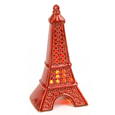 Red Eiffel Tower Night Light