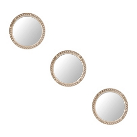 Rope Circle Mirrors, Set of 3