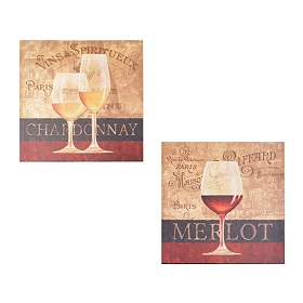 Vins & Spiritueux Canvas Art Print, Set of 2