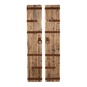 Rustic Wood Door Panels, Set of 2