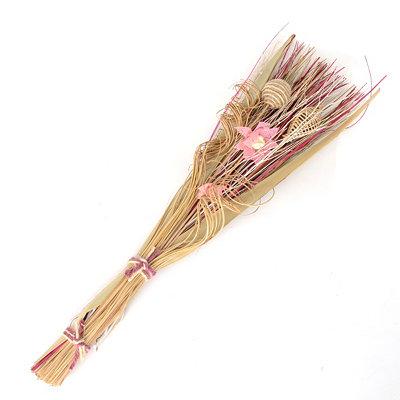 Pink Burlap Flower Dried Bouquet
