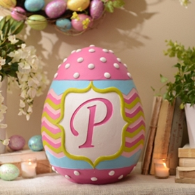 Monogram P Easter Egg Statue