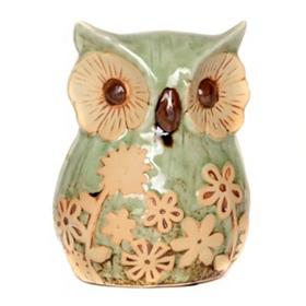 Floral Owl Statue