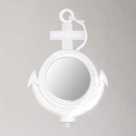 White Anchor Mirror, 18x26