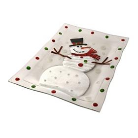Snowman Serving Platter