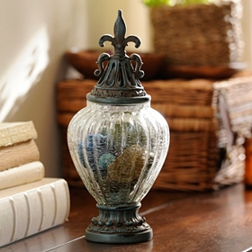 Distressed Blue Potpourri Jar, 13 in.