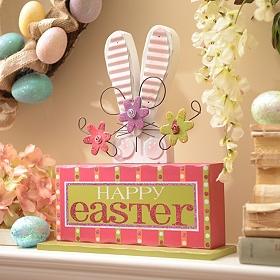 Happy Easter Bunny Block