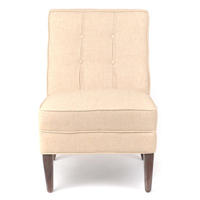 Maurice Ivory Linen Slipper Chair